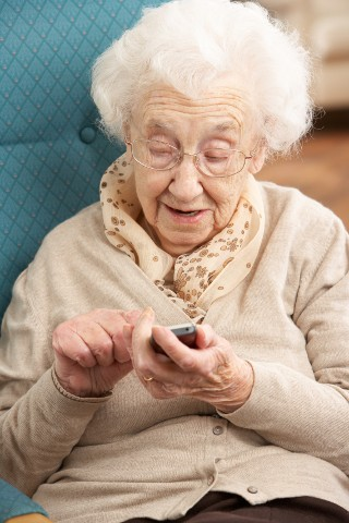 Older user with mobile application